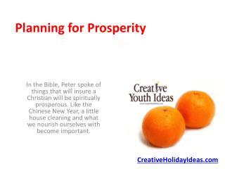 Planning for Prosperity