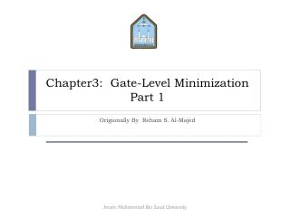 Chapter3:  Gate-Level Minimization Part 1