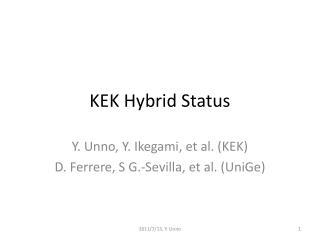 KEK Hybrid Status