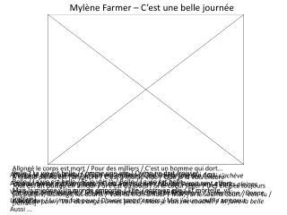 Myl�ne  Farmer �  C�est une  belle  journ�e
