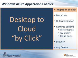 Windows Azure Application Enabler