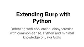 Extending Burp with Python