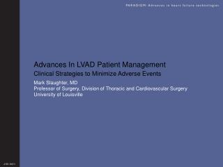 Advances In LVAD Patient Management