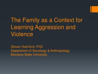 Aggression vs. Violence