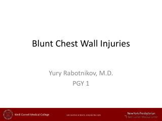 Blunt Chest Wall Injuries