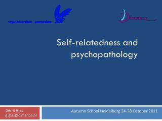 Self-relatedness and psychopathology
