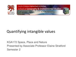 Quantifying intangible values