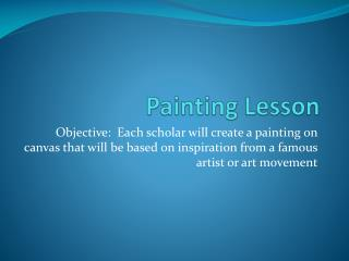 Painting Lesson