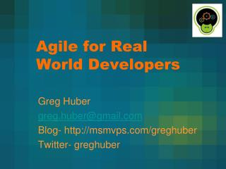 Agile for Real World Developers