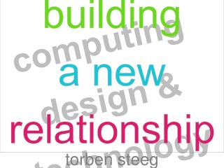building  a new relationship