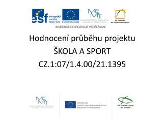 Hodnocení průběhu projektu  ŠKOLA A SPORT  CZ.1:07/1.4.00/21.1395