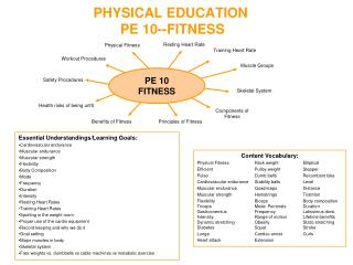 PHYSICAL EDUCATION PE 10- -FITNESS