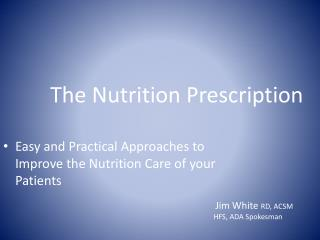 The Nutrition Prescription