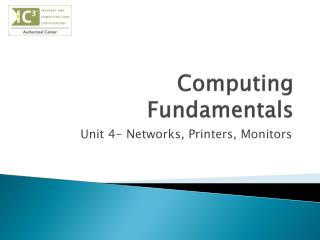 Computing Fundamentals