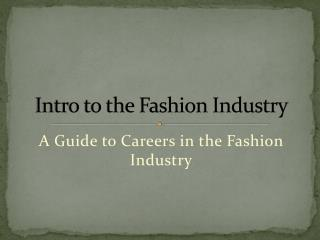 Intro to the Fashion Industry