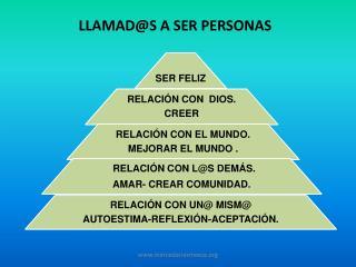 LLAMAD@S A SER PERSONAS