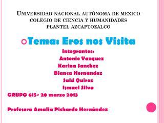 Universidad nacional autónoma de  mexico colegio de ciencia y humanidades plantel  azcaptozalco