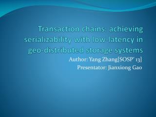 Author: Yang Zhang[SOSP' 13] Presentator :  Jianxiong  Gao