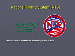 National Traffic System (NTS)