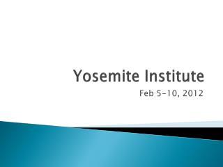 Yosemite Institute