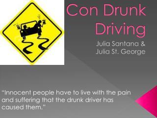 Con Drunk Driving