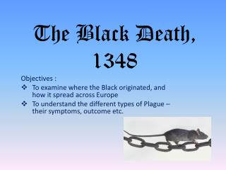 The Black Death, 1348