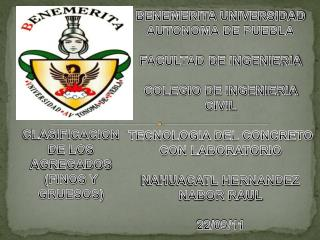 CLASIFICACION DE LOS AGREGADOS (FINOS Y GRUESOS)