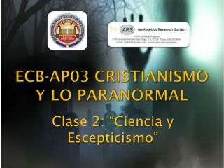 ECB-AP03 CRISTIANISMO Y LO PARANORMAL