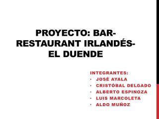 Proyecto: bar-restaurant  irlandés - El  duende