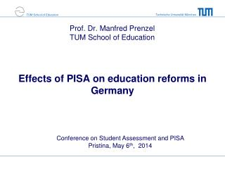 Effects of PISA  on education reforms in Germany