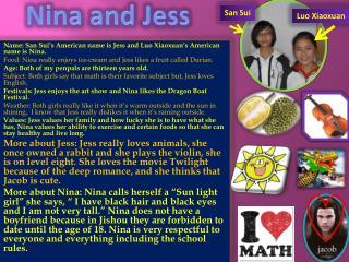 Nina and Jess