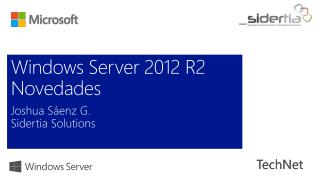 Windows Server 2012 R2 Novedades