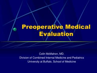 Preoperative Medical Evaluation