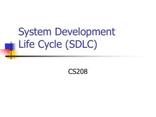 System Development Life Cycle SDLC
