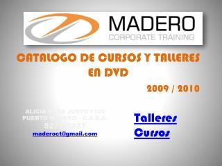 CATALOGO DE CURSOS Y TALLERES EN DVD