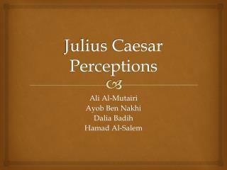 Julius Caesar Perceptions