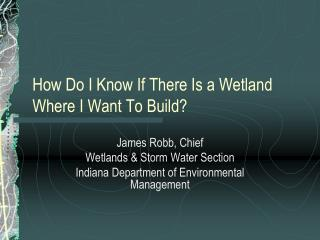 How Do I Know If There Is a Wetland Where I Want To Build