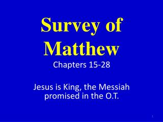 Survey of Matthew
