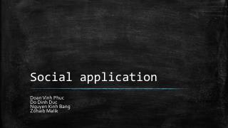 Social application