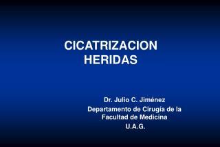 CICATRIZACION HERIDAS