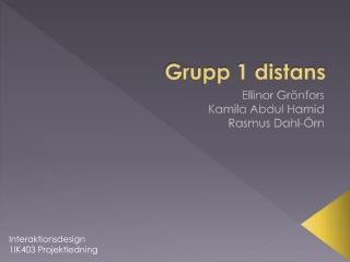 Grupp 1 distans