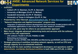 ANSE: Advanced Network Services for Experiments