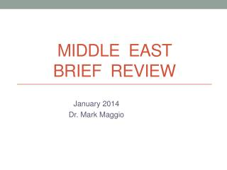 Middle  East  Brief  review