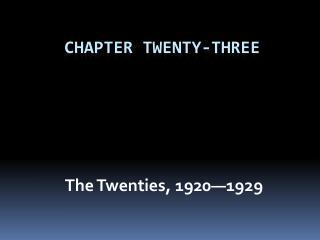Chapter Twenty-Three