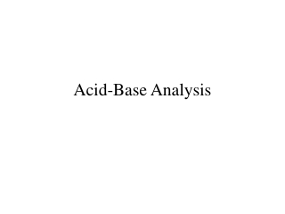 Acid Base Analysis