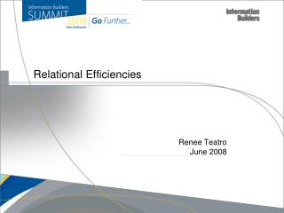Relational Efficiencies