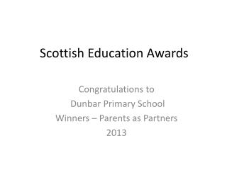 Scottish Education Awards