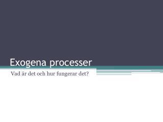 Exogena processer