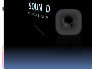SOUN D           by: Nick & Julian
