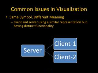 Common Issues in Visualization